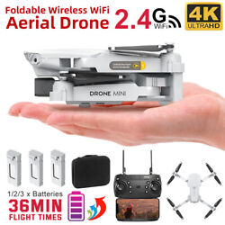 Drone X Pro Aircraft Wifi FPV 4K Camera Foldable RC Quadcopter Remote Battery $51.99
