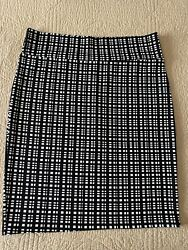 LuLaRoe Cassie Skirt Black White Plaid $15.00