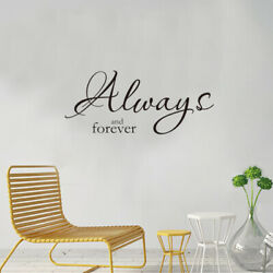 Always And Forever Wall Decorations Living Room Vinyl Wall Decals Home Decor $6.59