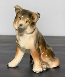 "Vtg Sheltie Collie Dog Small Collectible Figurine Japan 3"" $7.99"