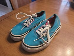 Vans Off The Wall Girls Size 10.5. Blue Pink T33 $6.39