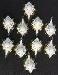 Set of 10 Vintage Antique Shades for Lamp Chandelier Plastic Slip Scalloped $25.00