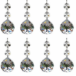 10pcs Clear Crystal Glass Ball Chandelier Prisms Pendants Parts Beads20mm $14.24