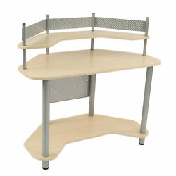 Studio Designs Study Corner Desk Silver Maple New 2015 $143.99
