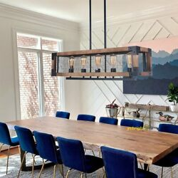 Contemporary Chandelier Wood Kitchen Island Pendant Lighting Dining Room Fixture $169.99