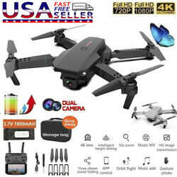 E88 Pro WIFI FPV Quadcopter With Fordable HD 4K Wide Angle Dual Camera Drone RC $43.47