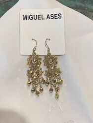 Miguel Ases Gold Chandelier Earrings $95.00