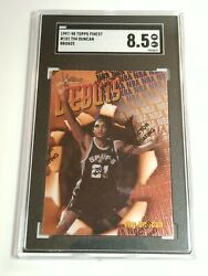 1997 98 TOPPS FINEST #101 ROOKIE RC WITH COATING BRONZE SGC 8.5 TIM DUNCAN $29.95