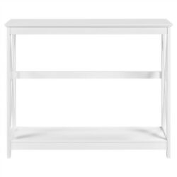X Design Console Table Sofa Side Table For Narrow Space Living Room Entryway $75.99