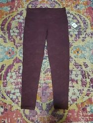 NWT Spalding Size S Maroon Leggings Activewear Pockets Workout Gym Exercise $18.99