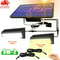 Dual Heads LED Solar Garden Wall Lights Balcony Patio Outdoor Lamps Pull Switch $12.79