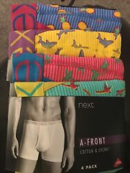 MENS NEXT A FRONT 4 PACK BOXERS SIZE XX LARGE GBP 19.95