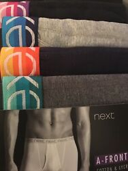 MENS NEXT A FRONT BOXERS NAVY AND GREY SIZE SMALL GBP 19.95