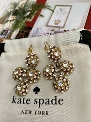 KATE SPADE NY quot;PUTTING ON THE RITZquot; CRYSTAL CHANDELIER EARRINGS PAVE GOLD $63.00