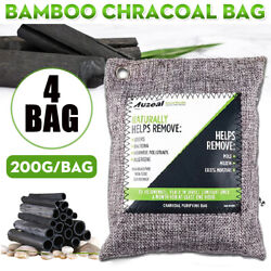 4 Pack Nature Fresh Air Purifier Bag Charcoal Bamboo Purifying Mold Odor 800g US $16.99