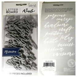 Letterboard Decorative Wall Art Set Gray Word Pack New from Target $3.99