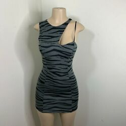 Material Girl Dress Size Small Gray Black Sleeveless Mini Party Juniors NEW $18.95