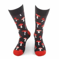 Men#x27;s Mushroom Novelty Fun Socks $16.00