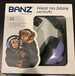 Baby Banz Earmuffs Infant Hearing Protection Headphones Purple 0 2 Yrs $16.99