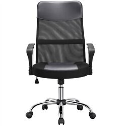 High Back Home Office Desk Chair Ergonomic Swivel Task Chair Gaming Chair Gray $65.99