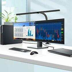 LED Desk Lamp 24 Watts Office Desk Lamps with Architect Clamp Workbench Black $111.17