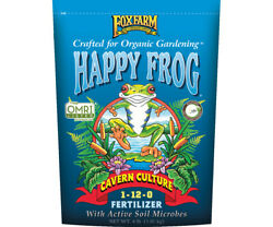 Fox Farm Happy Frog Cavern Culture Fertilizer 4 lb bag Free Shipping Bat Guano $21.00