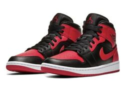 Air Jordan 1 Mid Red Black Banned Size 12 $170.00