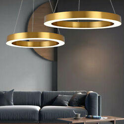 Ring Ceiling Lamp LED Chandelier Pendant Light Acrylic Living Room Hanging Lamp $84.01