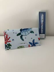 Vera Bradley NWT Checkbook Cover and Ballpoint Pen Set ANCHORS AWEIGH $31.99