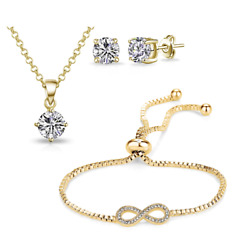 Gold Infinity Friendship Set Created with Swarovski® Crystals $18.49