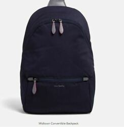 Vera Bradley Midtown Convertible Backpack Performance Twill Classic Navy NWT $89.99