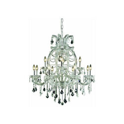 ASFOUR CRYSTAL CHANDELIER MARIA THERESA FOYER DINING ROOM LIGHTING 12 LIGHT 35quot; $2076.00