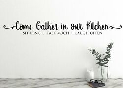 Come gather in our kitchen Wall Decal Family Kitchen $23.95
