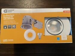 Commercial Electric 5quot; Directional Recessed Kit W LED Bulb White