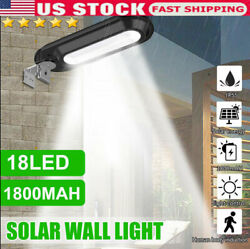 18 LED IP55 Outdoor Commercial Solar Street Light Waterproof Dusk to Dawn Lamp