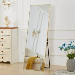 Gold Full Length Mirror Bedroom Floor Mirror Standing Hanging Large Wall Mirror $103.00