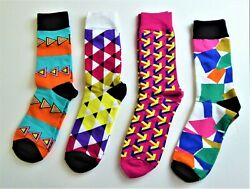Colorful Novelty Socks Four Pair Unisex Good quality New $10.99