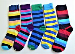 Colorful Novelty Socks Five Pair Unisex Good quality Fun and New $15.50
