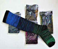 Colorful Compression Novelty Socks Five Pair Good quality New 20 30mmHg $34.99
