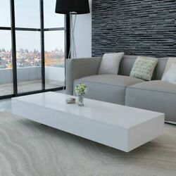 vidaXL Modern Rectangle Cocktail Coffee Table Living Room Home Office White US $209.90