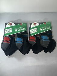 Fruit Of The Loom 6 Pk Ankle Boys Socks Size M 9 2.5 $4.95