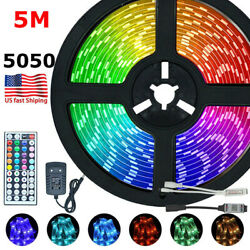 5M LED Strips Light RGB 5050 Waterproof Flexible Lamp Tape Ribbon Remote Control