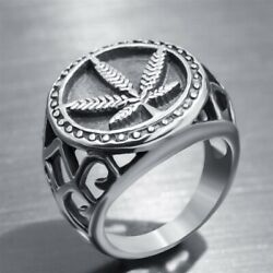 Fashion Punk Jewelry Mens Rings Unique Biker Party 925 Silver Ring Gift Sz 6 14 C $3.20