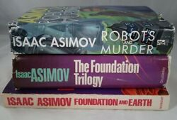 Lot of 3 Vintage Science Fiction Books by Isaac Asimov. Foundation Books. Robots $31.49