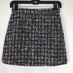 Womens A Line Skirt Short Sparkly Tweed Black Size M Medium $10.80