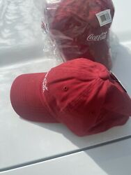 Coca Cola Red Hat New Baseball Cap Adjustable With Tags $18.49