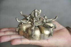 Old Brass 6 Compartment Unique Peacock Crafted Handcrafted Tikka Box $48.00