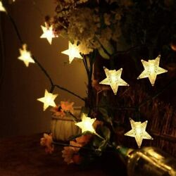 Star String 40LED Lights Patio Party Yard Garden Waterproof Valentine#x27;s Day Gift