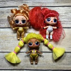 LOL Surprise SET OF 3 BIG SIS Sister NUDE DOLLS Only REMIX HAIR FLIPS Customs $11.99