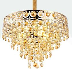 Contemporary Crystal Chandelier Light Fixture Pendant Dining Room Modern Gold 3 $119.99